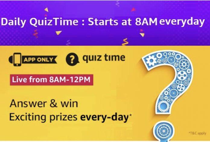 amazon daily quiz answers