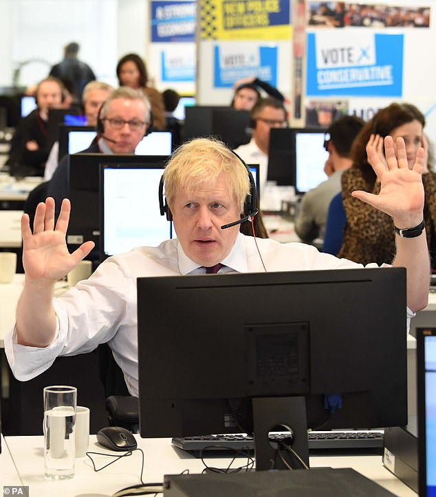 Boris Johnson and members of his Cabinet hit the phones in a bid to drum up support from voters ahead of Thursday's General Election