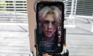 Social media star Noen Eubanks records a video for TikTok - one of the few apps to break through to the mainstream in recent years.