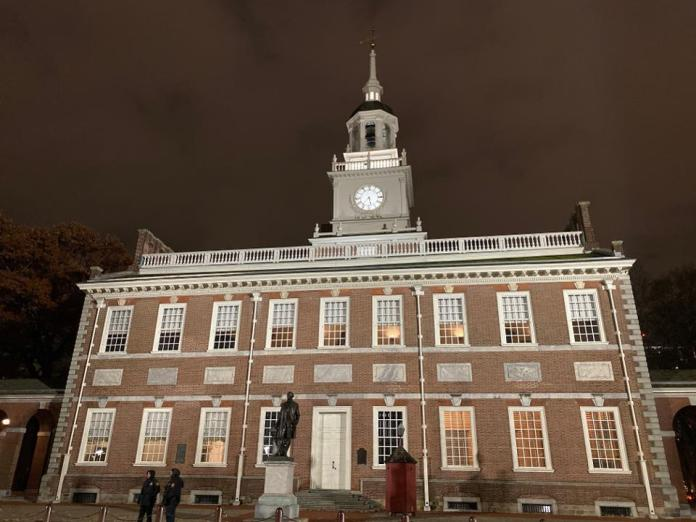 A shot of the Independence Hall in Philadelphia taken by the iPhone 11 Pro.