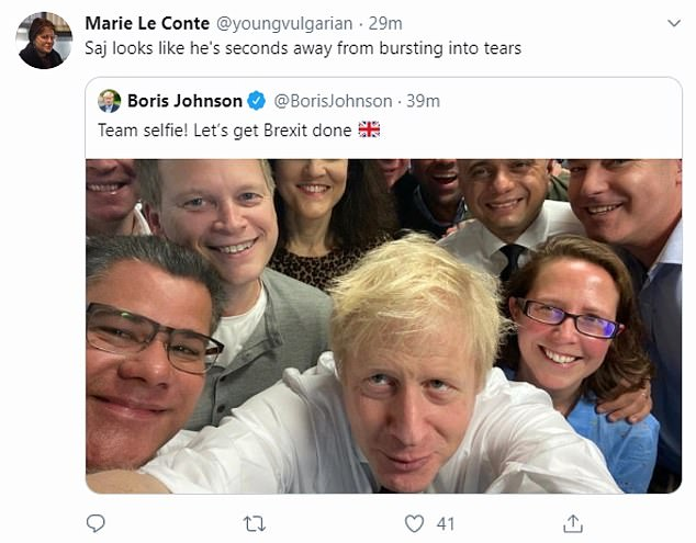 Other social media users mocked the pictures of Johnson and Javid in the call centre, comparing them to injury lawyers