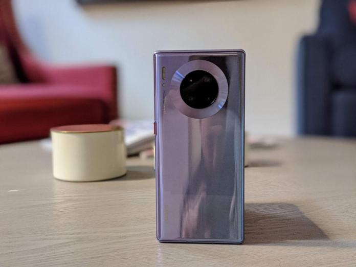 The back of the Mate 30 Pro.