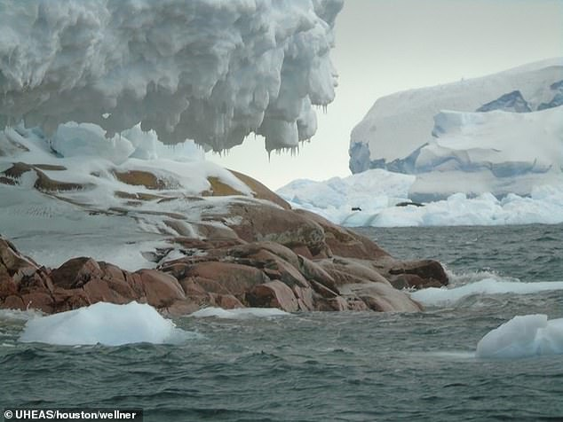 The new island has been named Sif by researchers who say it was uncovered due to warming temperatures causing ice sheets to melt