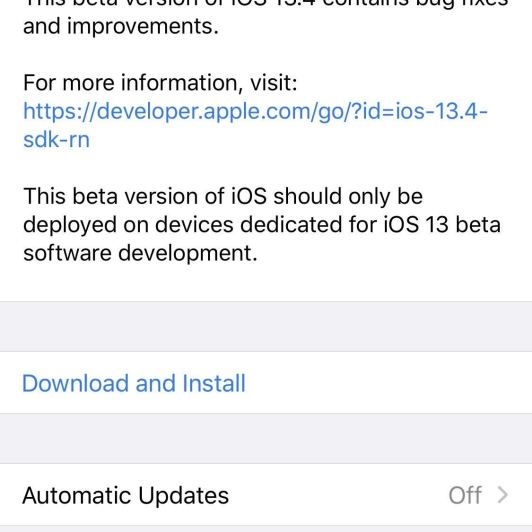 Apple Releases iOS 13.4 Developer Beta 2 for iPhone