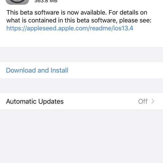 Apple Releases iOS 13.4 Public Beta 3 for iPhone, Hints at Future 'OS Recovery' Mode