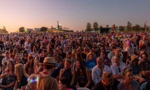 The crowd at the Day on the Green concert at Rochford Winery, Yarra Valley on Saturday