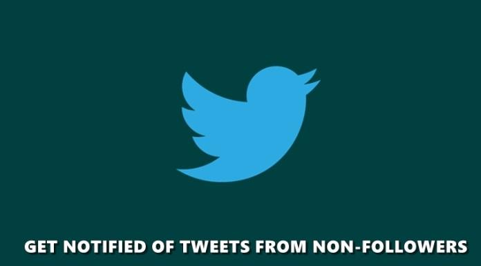non-followers tweets