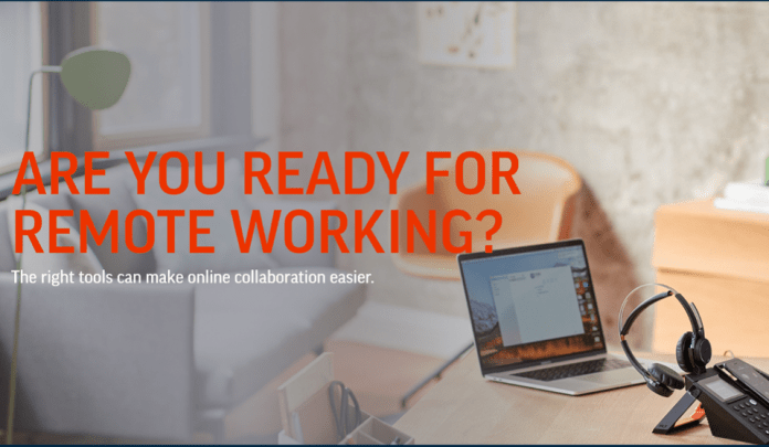 Poly has remote working solutions bundles that include webcams, headset, and speakerphones