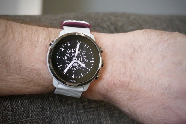 suunto 7 smartwatch review  trashed rose face