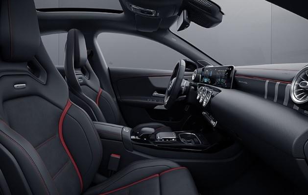 Mercedes-AMG CLA 35 interior shot.