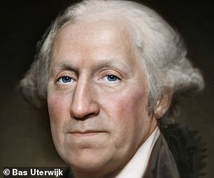 The realistic portrait of Washington made by Bas using Artbreeder