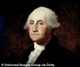 The United State's first president, George Washington, on show at the Corcoran gallery of arts