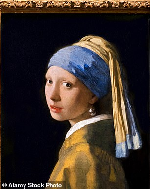 Johannes Vermeer's famous Girl with a Pearl Earring portrait, on display at Mauritshuis, The Hague