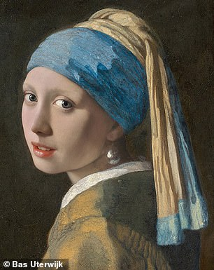 Bas's AI reproduction of the Girl with a Pearl Earring
