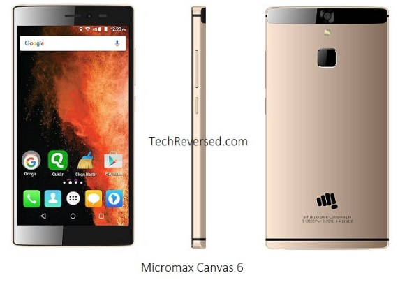 Micromax Canvas 6 Price in India, Specifications, Features, Release Date