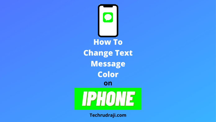 how to change text message color on iPhone
