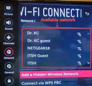 how to connect lg tv to wifi