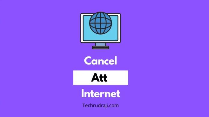 how to cancel att internet