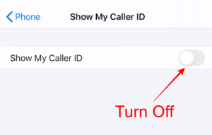 how to call anonymously iphone