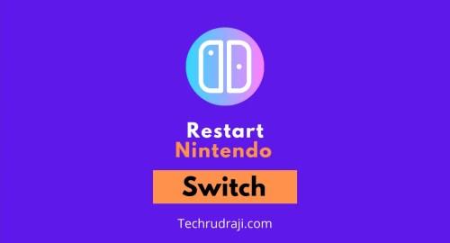 how to restart nintendo switch