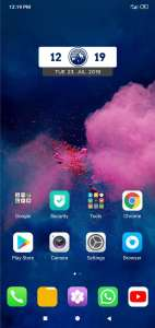 Colour OS 6 Home Page miui10 theme of techrushi