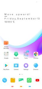Xiaomi Now themes home screen on techrushi