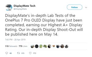 Oneplus 7 pro display score