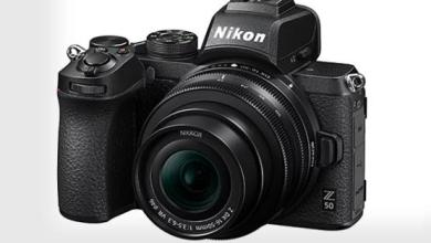 Photo of Nikon Z50, small and lightweight camera with an APS-C sensor