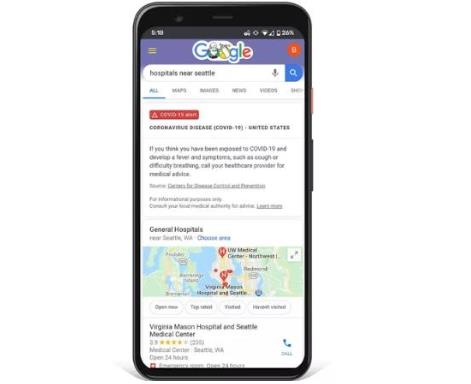 Google launched COVID-19 website with improved search results