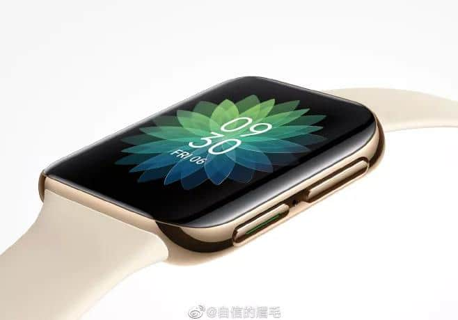 OppO smartwatch The curved screen and 3D glass, looks like the Apple Watch