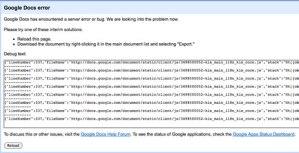 Google Docs Error
