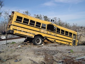 Post Katrina School Bus Destroyed