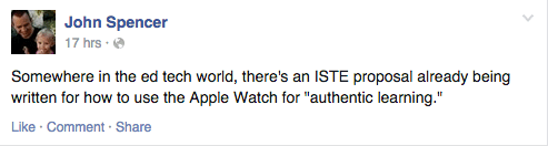 ISTE proposals for Apple Watch
