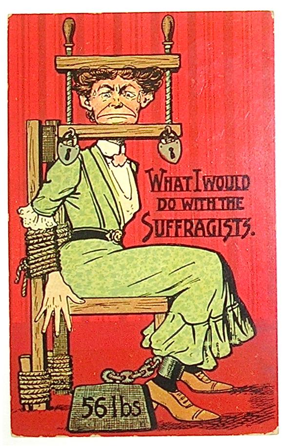 Anti-suffragette propaganda poster from Catherine H. Palczewski'sandJune Purvis' collection. (http://www.ufunk.net/en/insolite/contre-le-vote-des-femmes/)