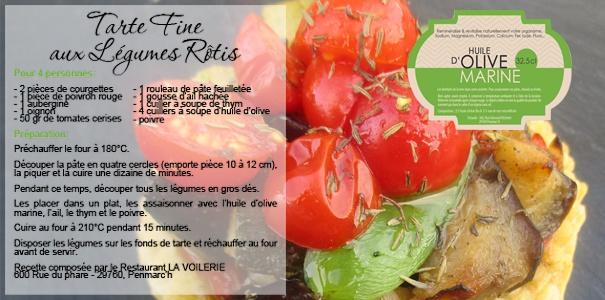 tarte fine aux légumes rôtis