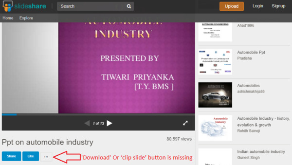How to download ppt from Slideshare if download is disabled