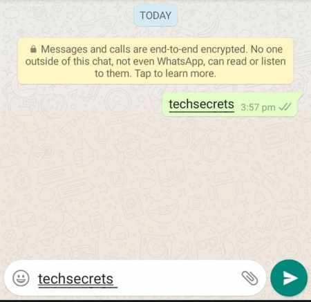 How to underline text in WhatsApp