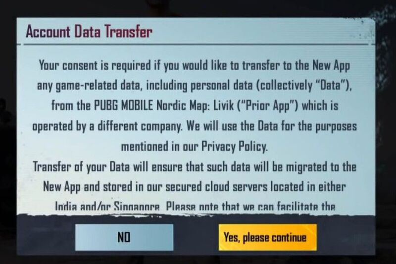 How To Transfer Data From PUBG Mobile Account To BGMI