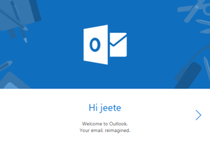 Done with registration on hotmail
