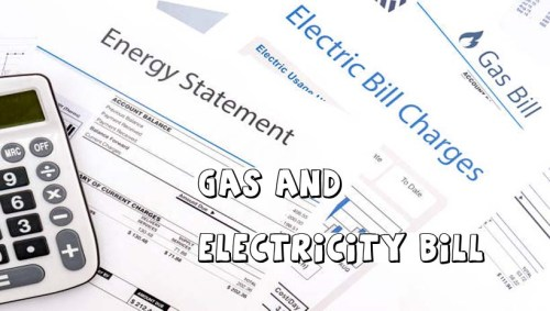 Gas and Electricity Bill