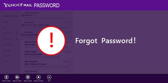 Yahoo Mail Password