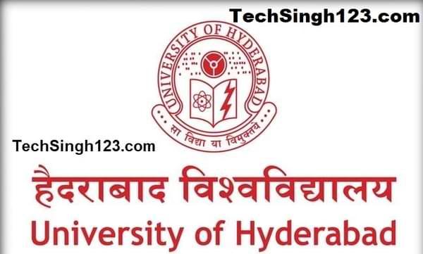 University Of Hyderabad Recruitment हैदराबाद विश्वविद्यालय भर्ती