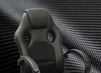 Black Gaming Chair Carbon Fiber