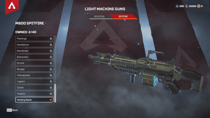 M600 Spitfire LMG Apex Legends
