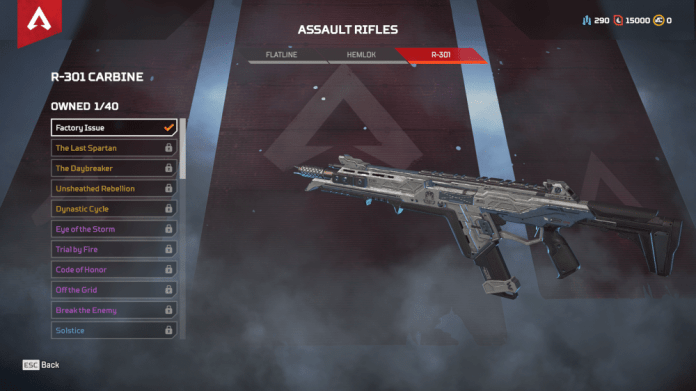 R-301 Carbine Assault Rifle Apex Legends