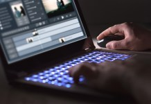 Video Editing on Laptop