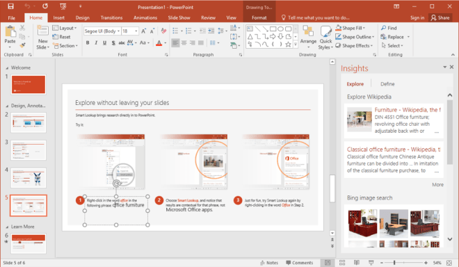 Insights in PowerPoint - www.office.com/setup