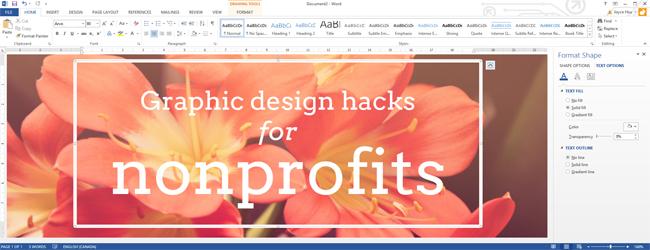 Graphic Design Hacks Using Microsoft Office To Create