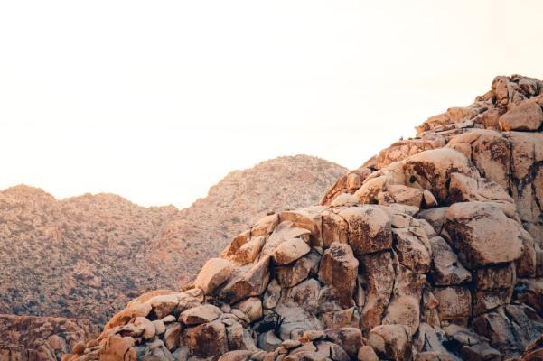 A large bedrock