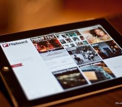Flipboard running on iPad